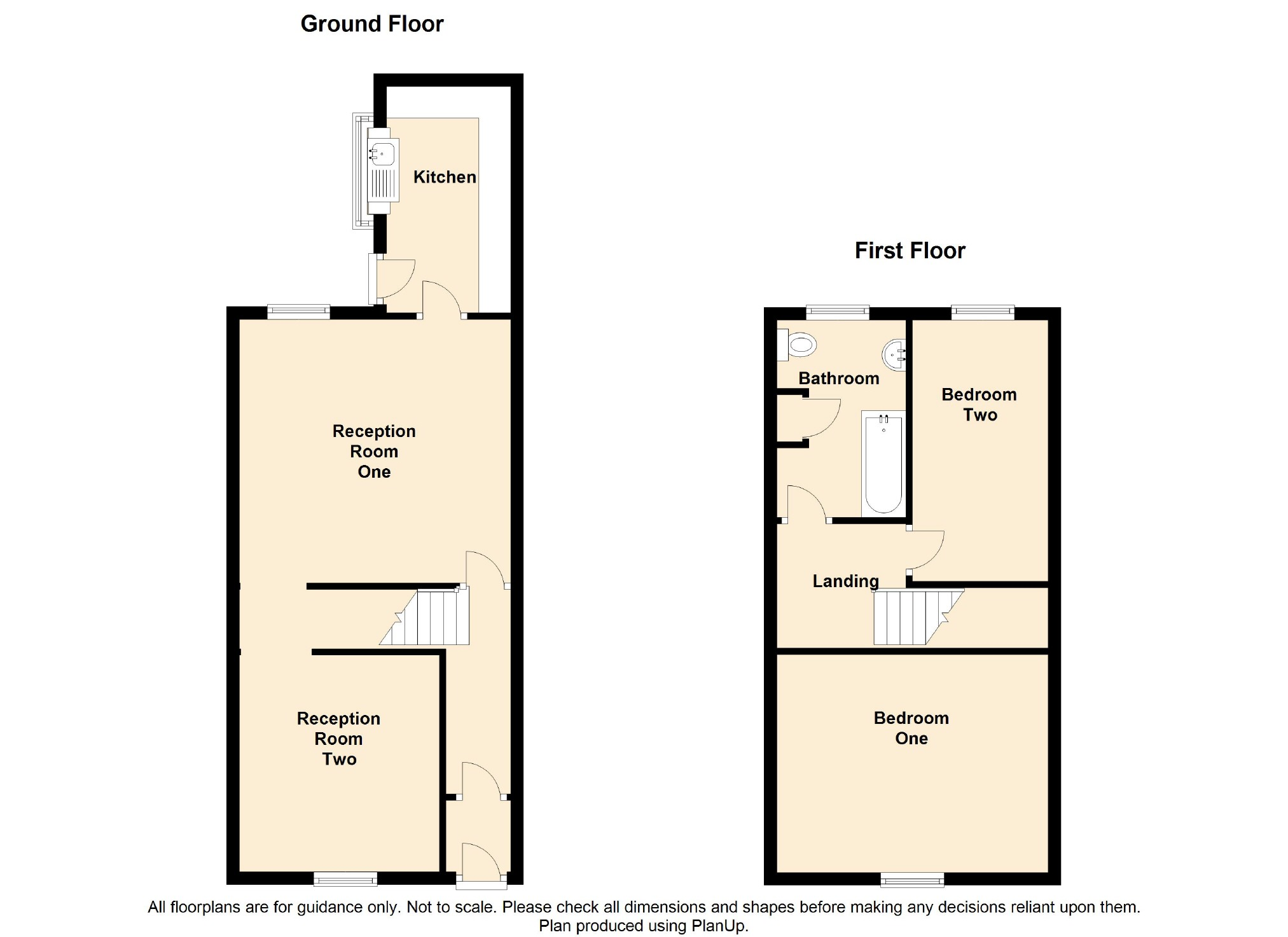 2 Bedroom Terraced House For Sale - Floorplan 1
