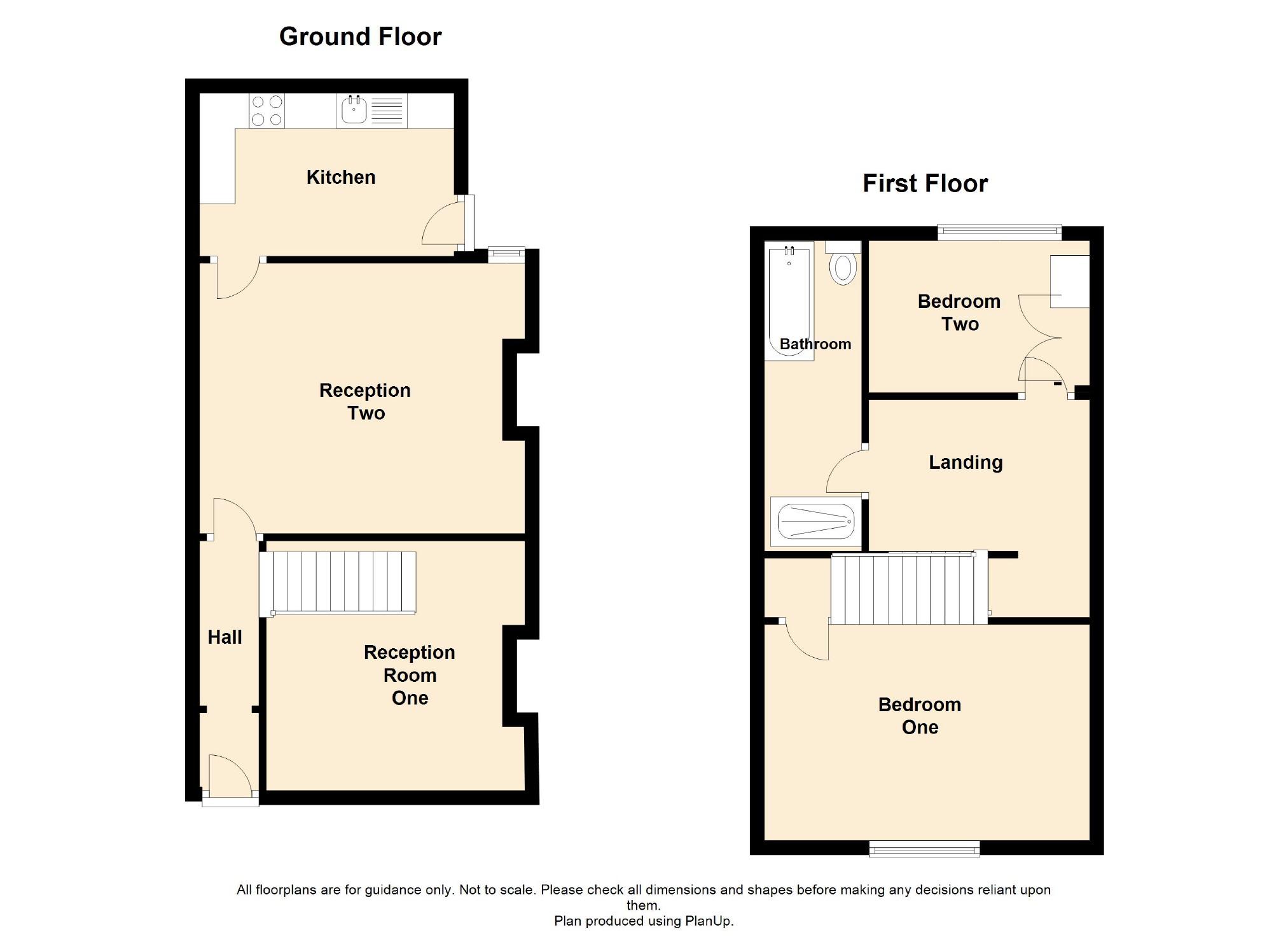 2 Bedroom Terraced House For Sale - Floorplan 1
