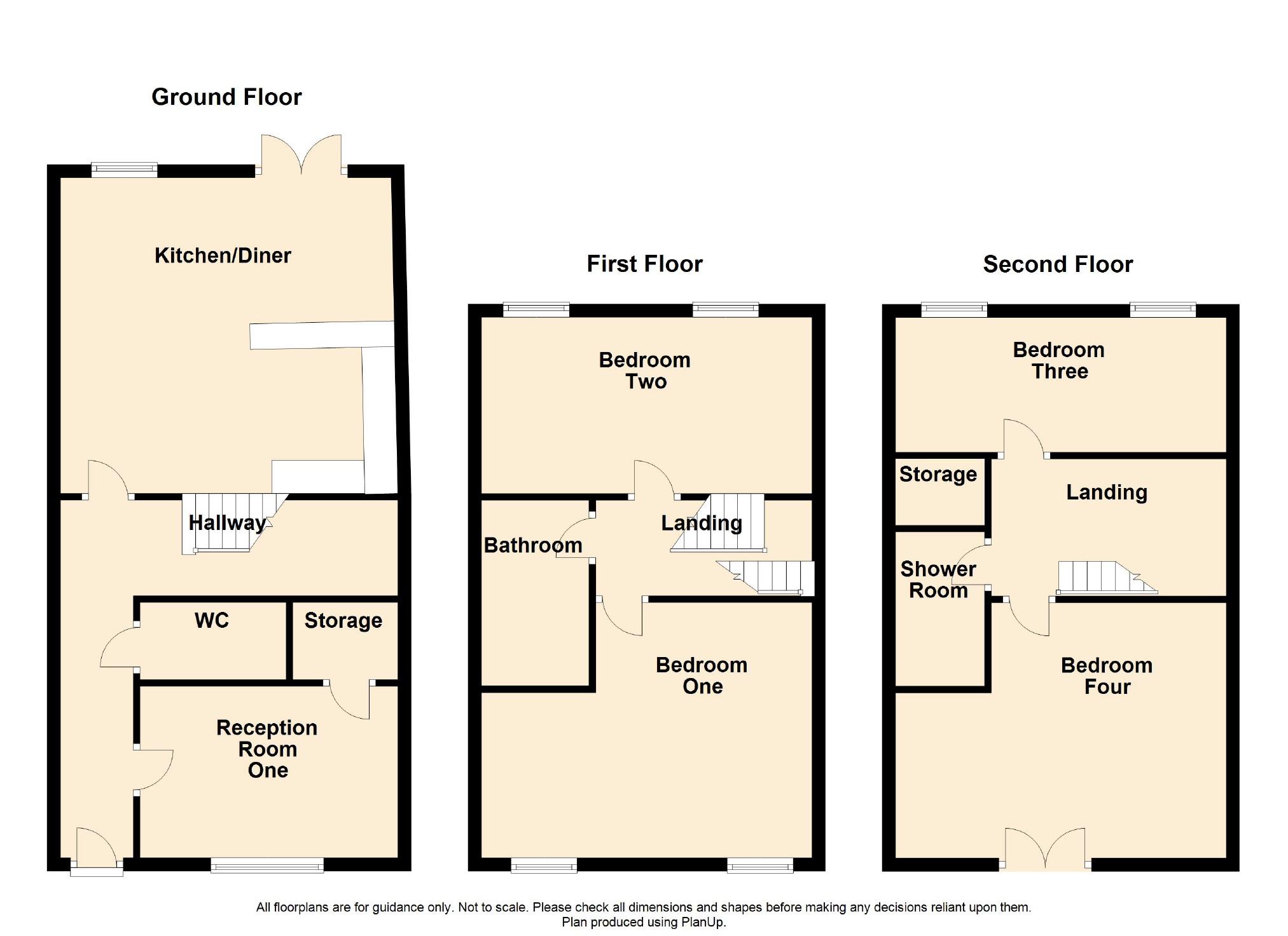 4 Bedroom Townhouse House For Sale - Floorplan 1
