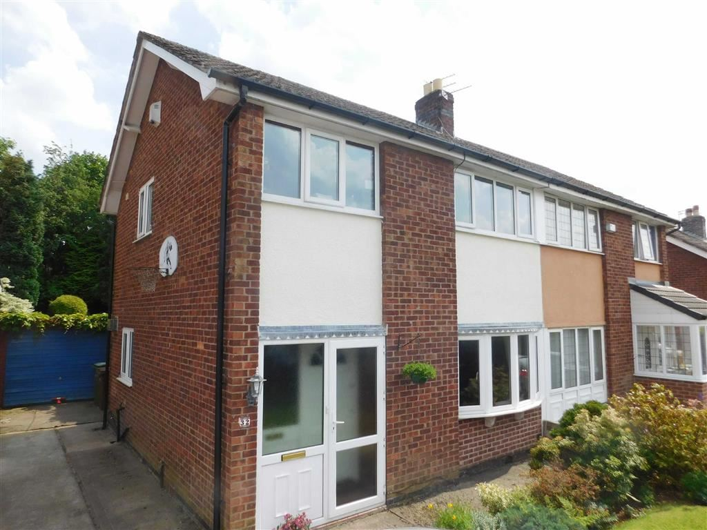 3 Bedrooms Semi Detached House for sale in Briarley Gardens, Woodley, Stockport