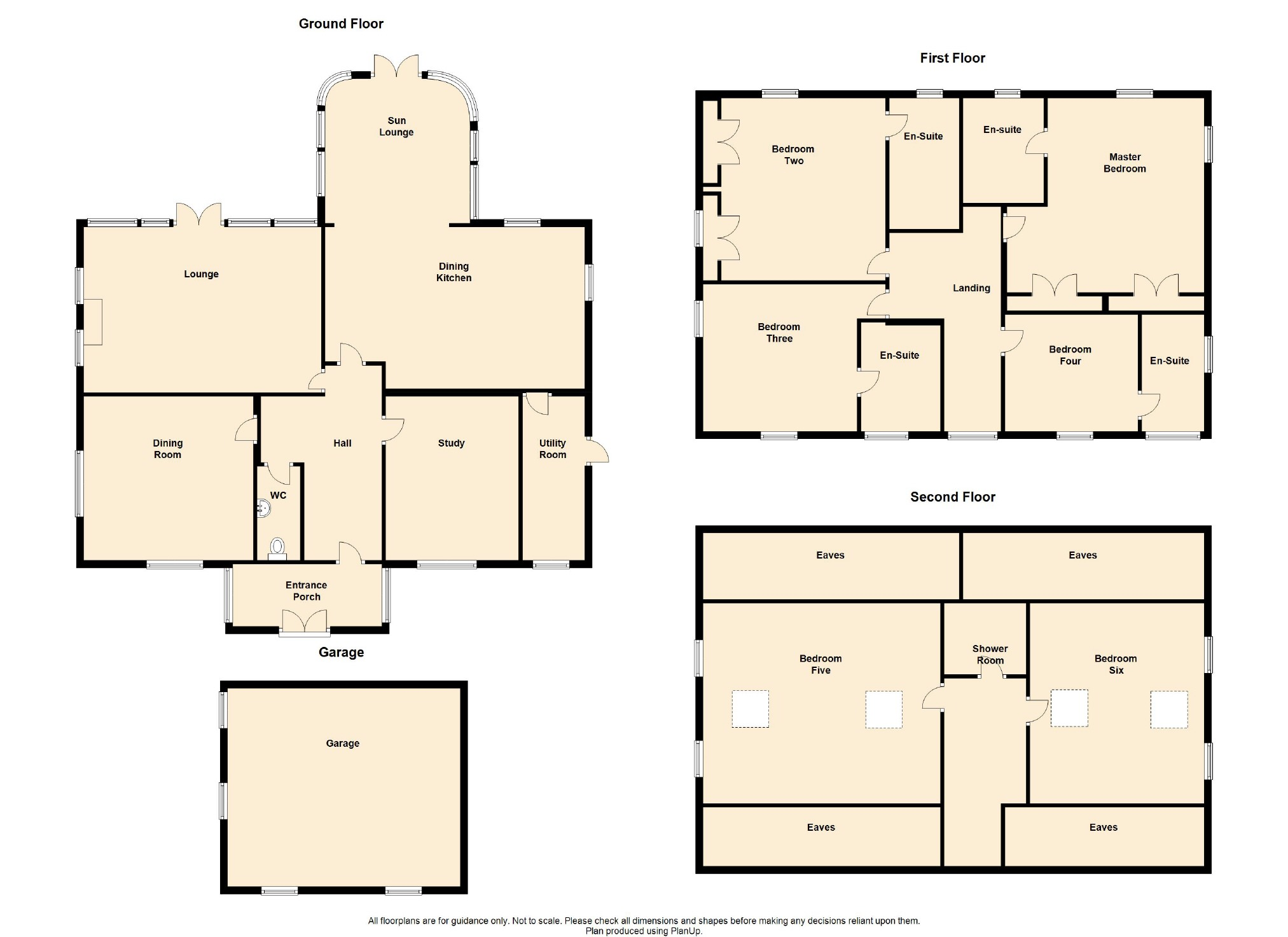6 Bedroom Detached House For Sale - Floorplan 1