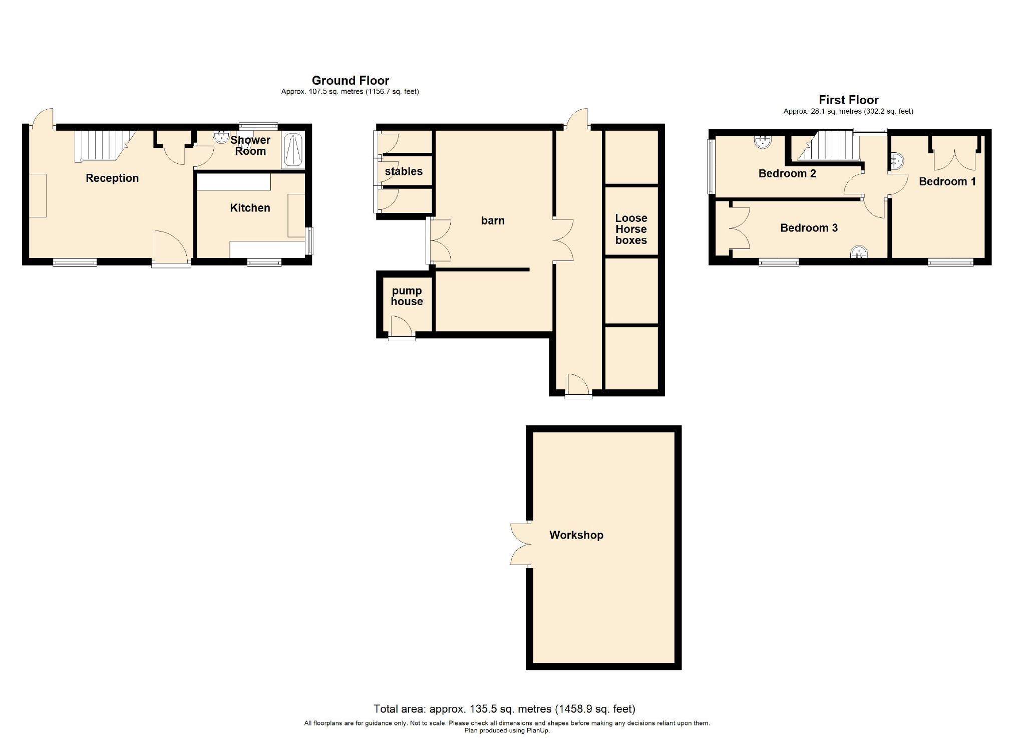 3 Bedroom Farmhouse For Sale - Floorplan 1