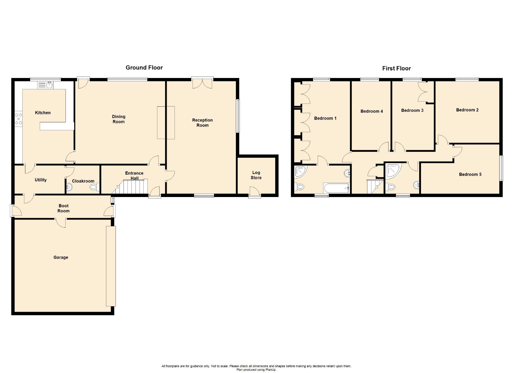 5 Bedroom Farmhouse For Sale - Floorplan 1