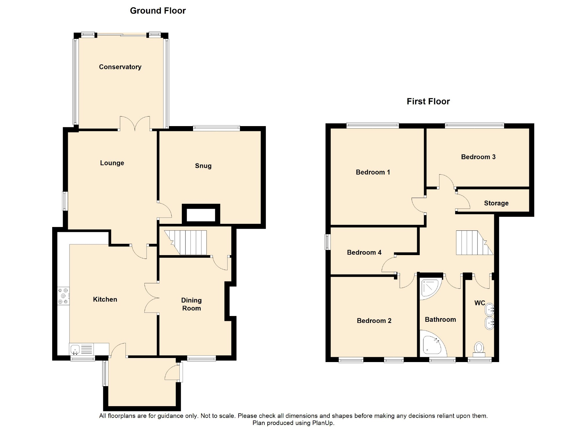 4 Bedroom Farmhouse For Sale - Floorplan 1
