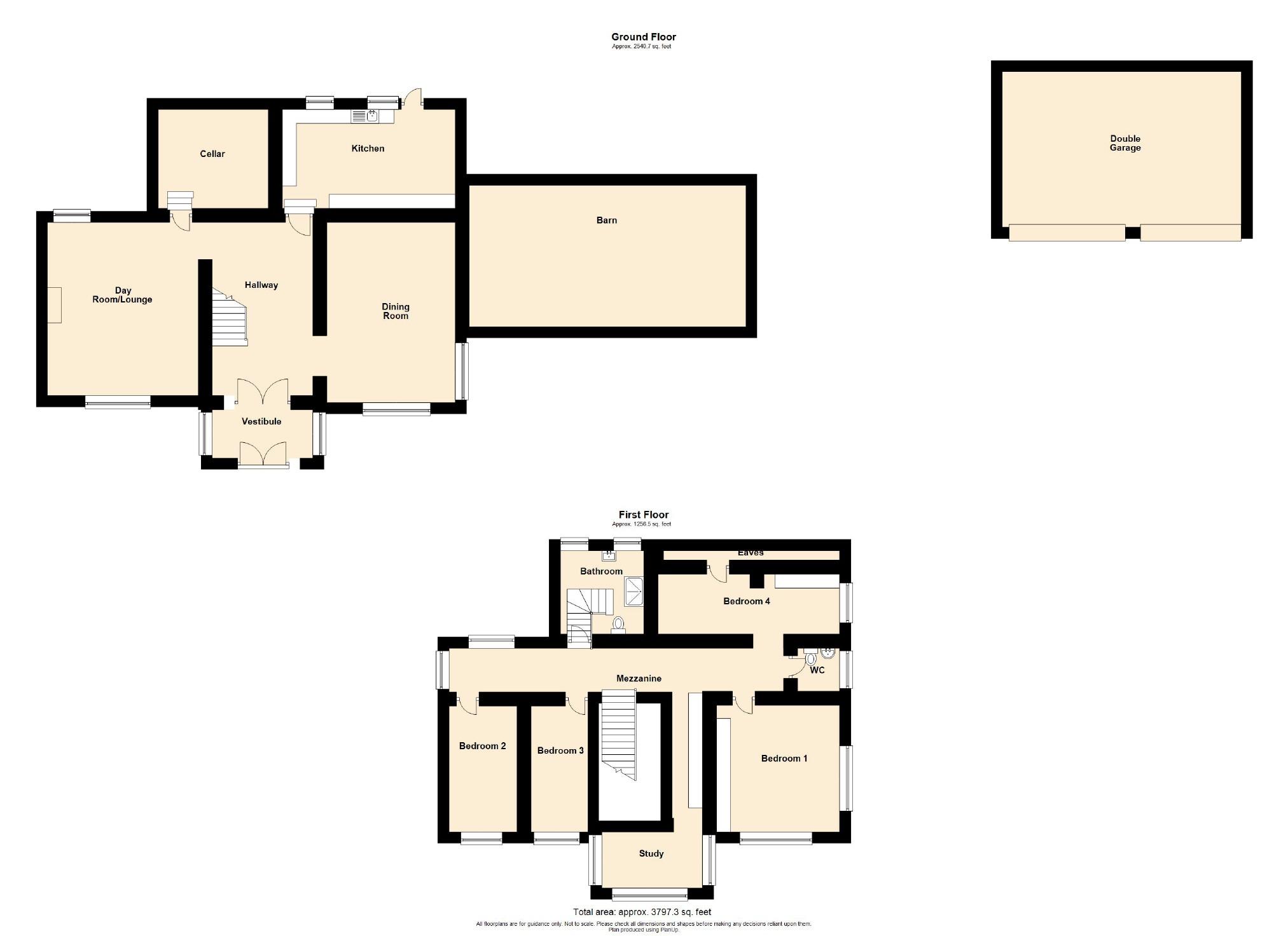 4 Bedroom Farmhouse For Sale - Floorplan 1