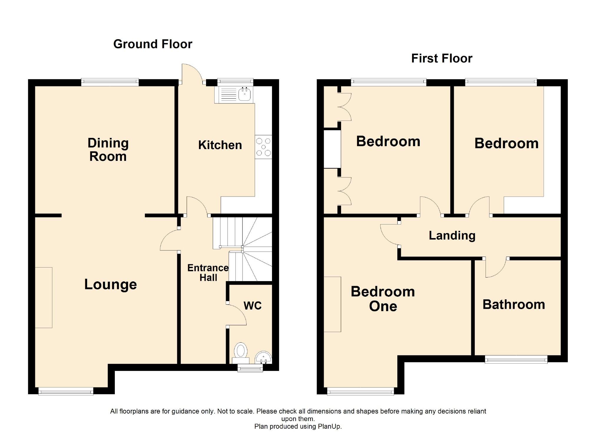 3 Bedroom Mid Terrace House For Sale - Floorplan 1