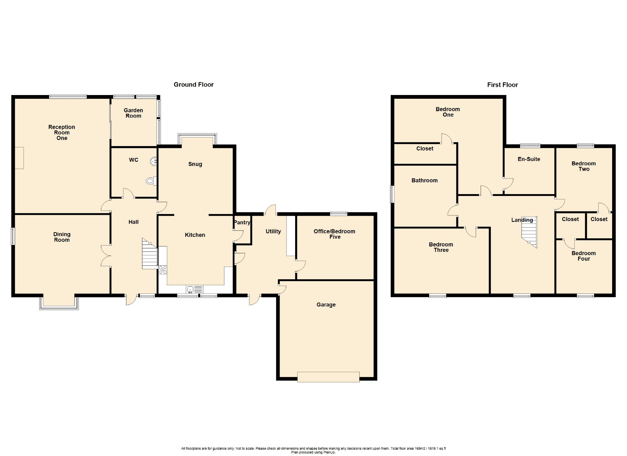 5 Bedroom Detached House For Sale - Floorplan 1