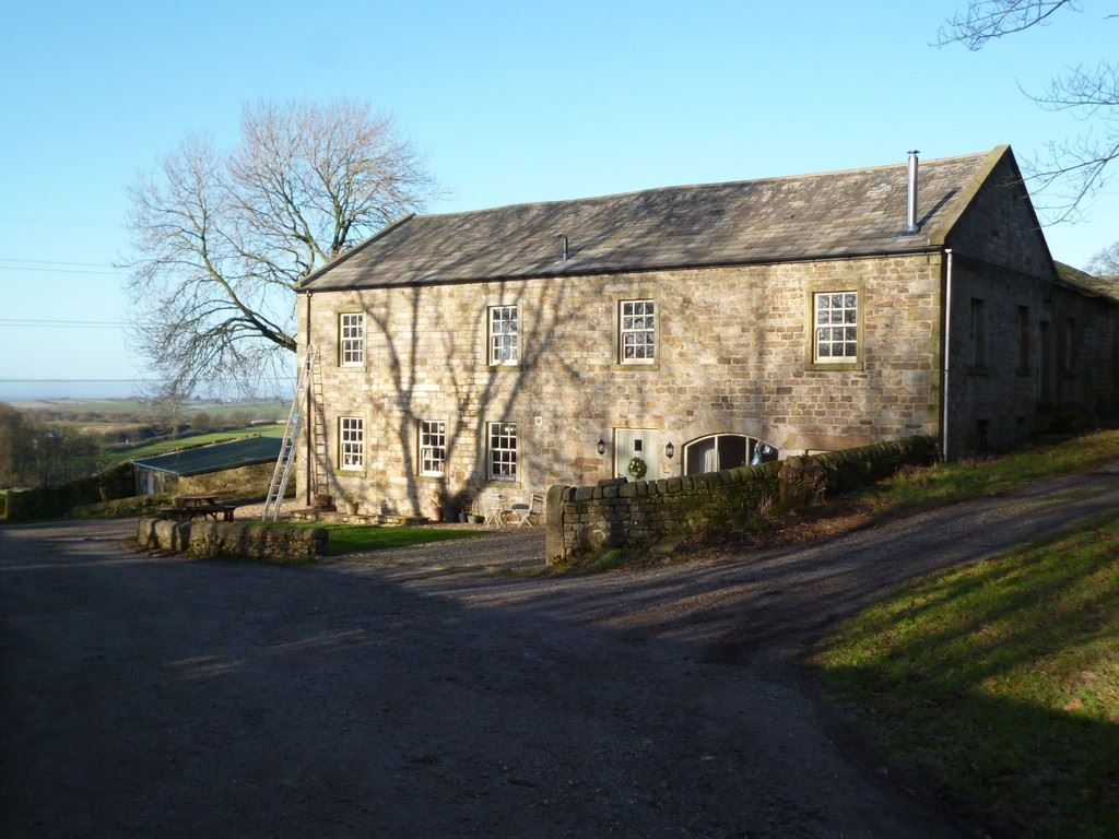141 acres with planning and detached farmhouse, Lancaster marketed by Oystons Preston, call 01772 555551 to arrange a viewing