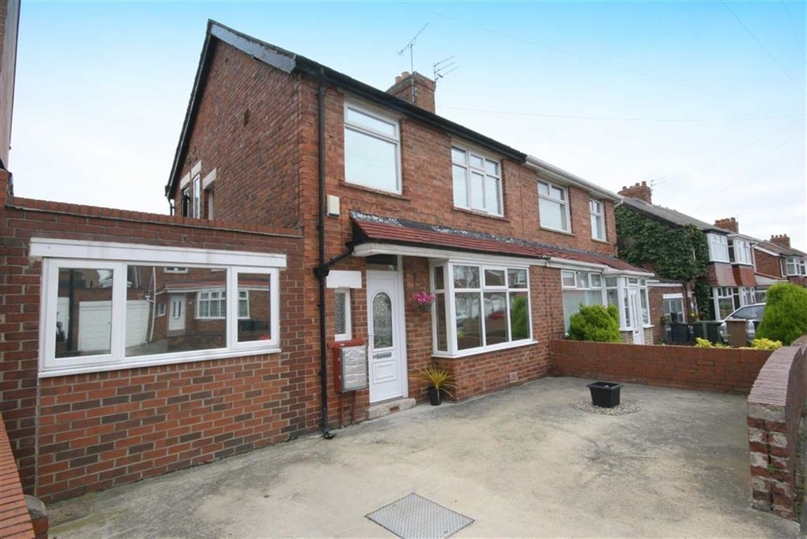 3 Bedrooms Semi Detached House for sale in Glanton Road, North Shields, Tyne And Wear, NE29